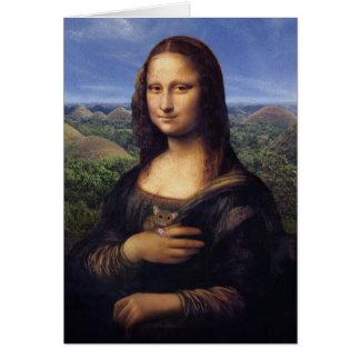 Mona Lisa de Bohol Cartão