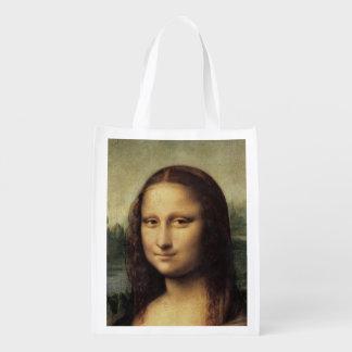 Mona Lisa em detalhe por Leonardo da Vinci Sacola Ecológica