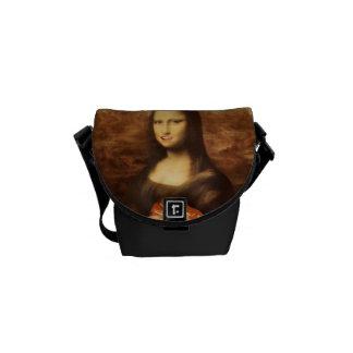 Mona Lisa gosta dos doces dos namorados Bolsa Mensageiro