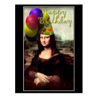 Mona Lisa - menina do aniversário Cartão Postal
