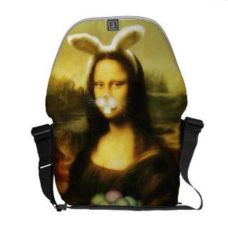 Mona Lisa, o coelhinho da Páscoa Bolsas Mensageiro