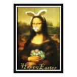 Mona Lisa, o coelhinho da Páscoa Convite 12.7 X 17.78cm