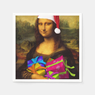 Mona Lisa Papai Noel Guardanapo De Papel