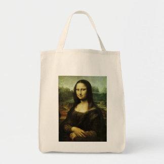 Mona Lisa pelo renascimento do vintage de Leonardo Bolsas De Lona
