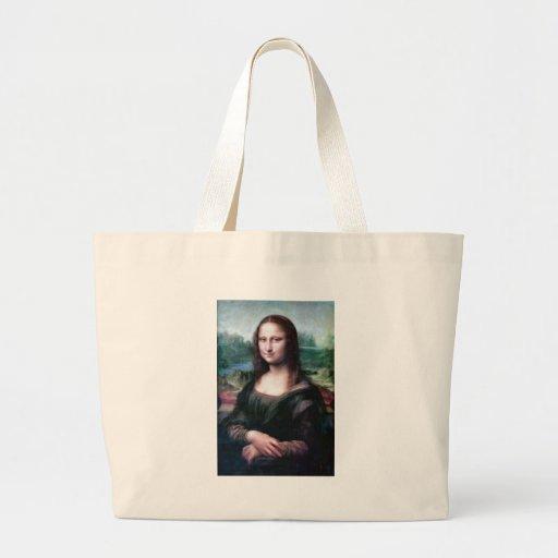 Mona Lisa por Leonardo da Vinci Bolsas De Lona