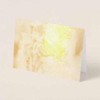 Monarca bonito cartão metalizado