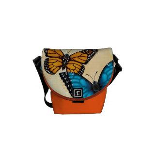Monarca e saco azul da borboleta de Morpho Bolsa Mensageiro