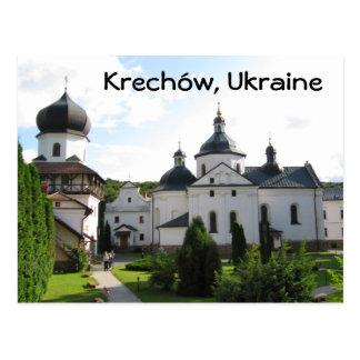 Monastério ortodoxo em Krechow, cartão de Ucrânia