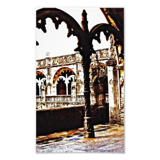 Monastério português - dos Jeronimos de Mosteiro Impressão De Fotos