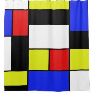 Mondriaan #20 cortina para chuveiro