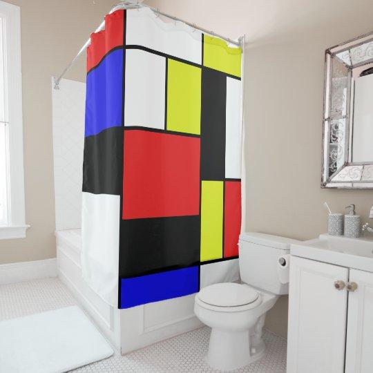 Mondrian #21-1 cortina para box