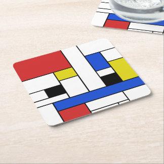 Mondrian alinha portas copos quadradas porta-copo de papel quadrado