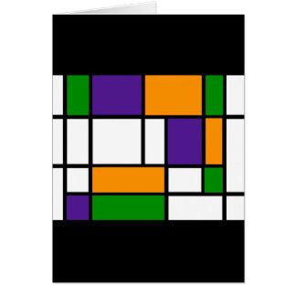 Mondrian - cartão das cores secundárias