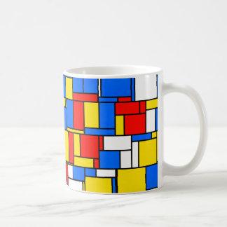 Mondrian inspirou o teste padrão amarelo azul caneca