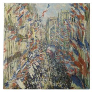 Monet 1878 a rua Montorgueil em Paris