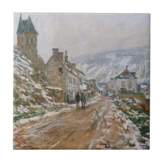 Monet - a estrada em Vetheuil no inverno