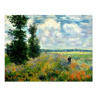 Monet - campo da papoila, Argenteuil Cartão Postal