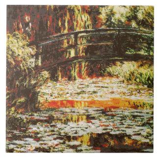 Monet de Claude - lírios japoneses da ponte e de