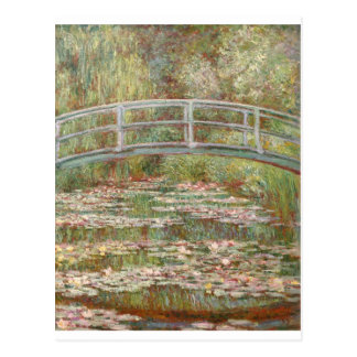 ~ Monet dos lírios de água Cartao Postal