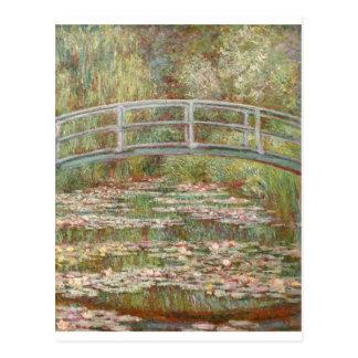 Monet dos lírios de água cartao postal