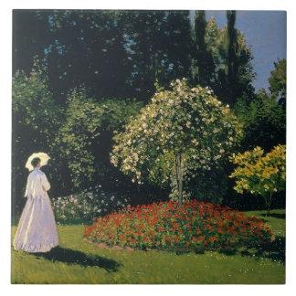 Monet: Mulher em um jardim