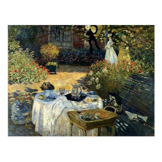Monet - o almoço cartão postal