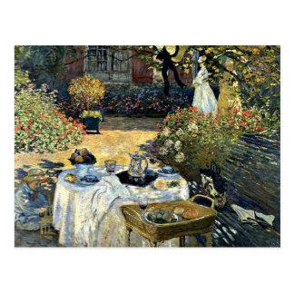 Monet - o almoço, trabalhos de arte 1873 cartões postais