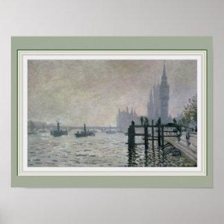 Monet Tamisa abaixo do poster X12 de Westminster