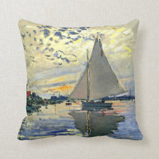 Monet - veleiro em Le Pequeno-Gennevilliers Almofada