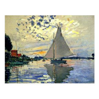 Monet - veleiro em Le Pequeno-Gennevilliers Cartão Postal