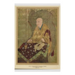 Monge asiática clássica do século XIV de Japão da  Posteres