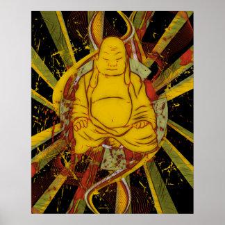 Monge na meditação poster