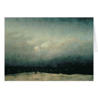 Monge pelo mar, 1809 cartão