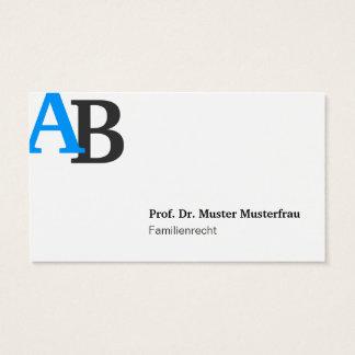 Monogram cartão de presentação