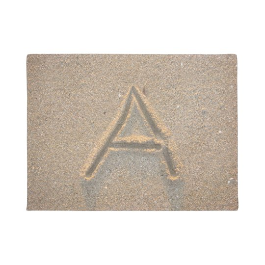 Monograma A da areia da praia Tapete