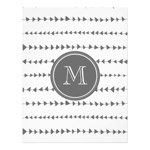 Monograma asteca branco das setas do carvão vegeta panfleto coloridos