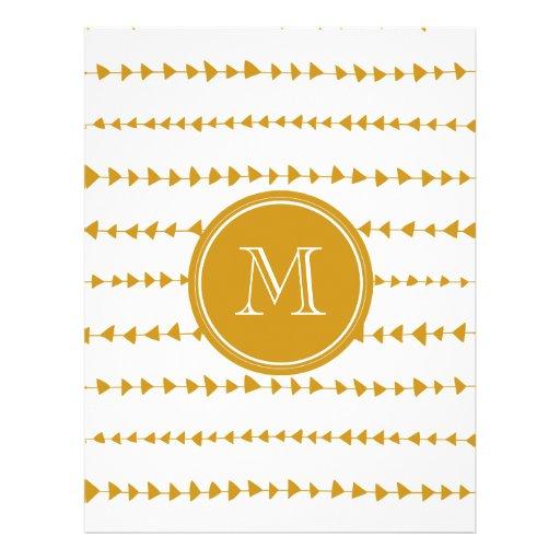 Monograma asteca branco das setas do ouro panfleto coloridos
