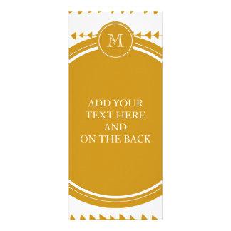 Monograma asteca branco das setas do ouro panfletos informativos