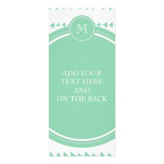 Monograma asteca branco verde das setas da hortelã 10.16 x 22.86cm panfleto