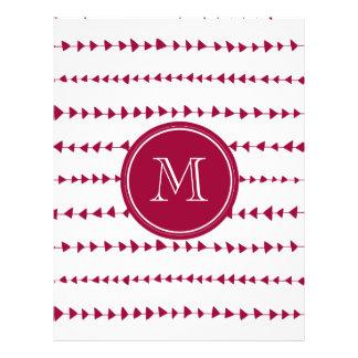 Monograma asteca branco vermelho das setas da baga panfletos