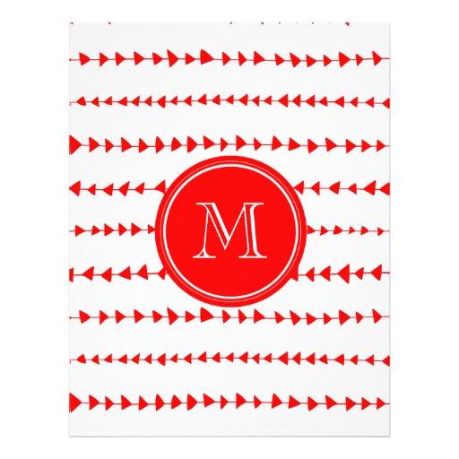 Monograma asteca branco vermelho das setas panfletos