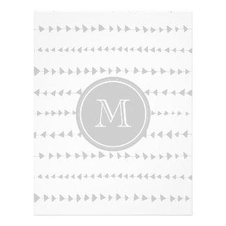 Monograma asteca das setas do branco cinzento modelo de panfleto