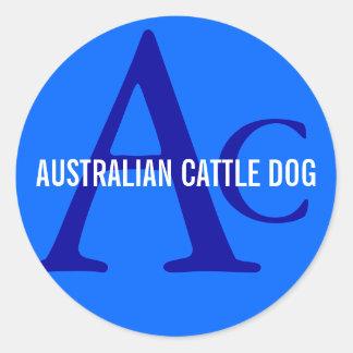 Monograma australiano do cão do gado adesivo