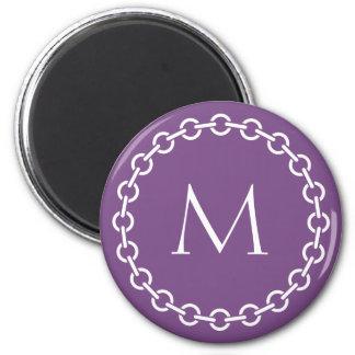 Monograma branco do círculo do anel do elo de imã
