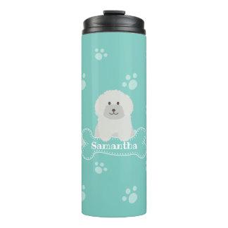 Monograma branco macio bonito do amante do cão de