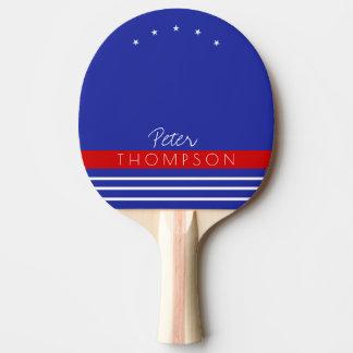 monograma com as listras no raquete de ping pong
