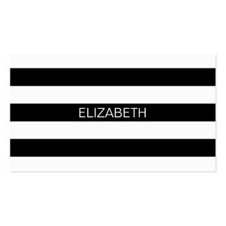 Monograma conhecido formal horizontal da listra #2 cartão de visita