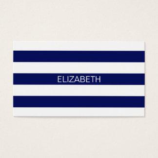 Monograma conhecido formal horizontal da listra #2 cartão de visitas