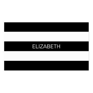 Monograma conhecido formal horizontal da listra #3 cartão de visita