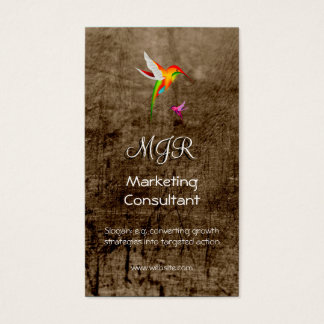 Monograma, consultor de marketing, couro-efeito cartão de visitas